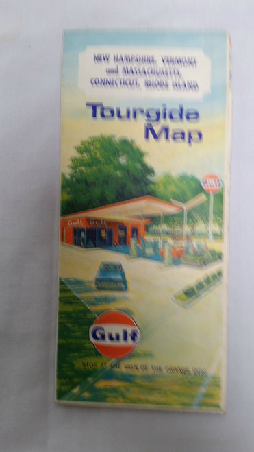Vintage Gulf Tour Guide Map of New England (1970 m)
