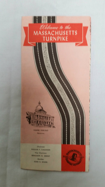 Vintage Massachusetts Turnpike maps and information