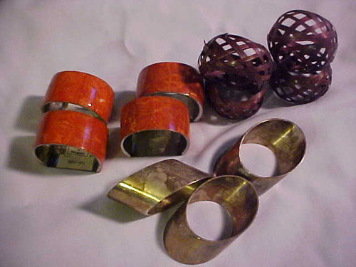 Vintage Napkin Ring 11 pc asst