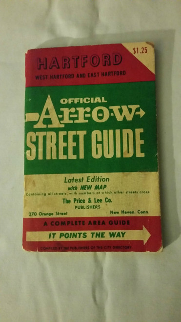 Vintage Official Arrow Street Guide Hartford Conn.