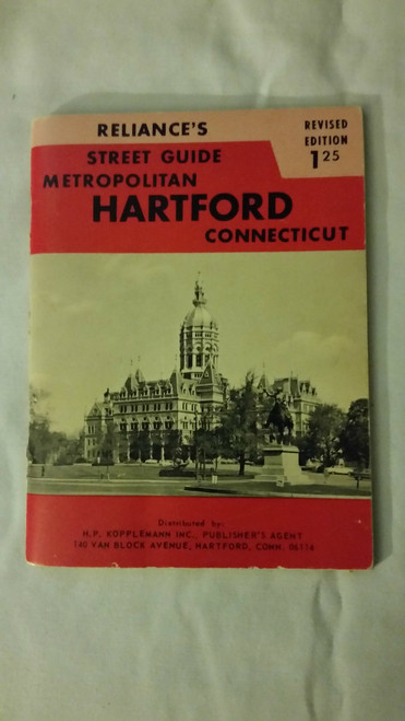 Vintage Reliance's st. guide metropolitan Hartford Conn