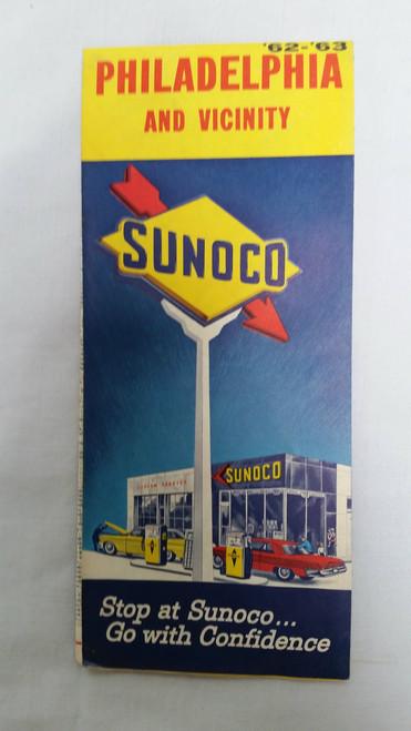 Vintage Sunoco Philadelphia and Vicinity Map 1962 -1963