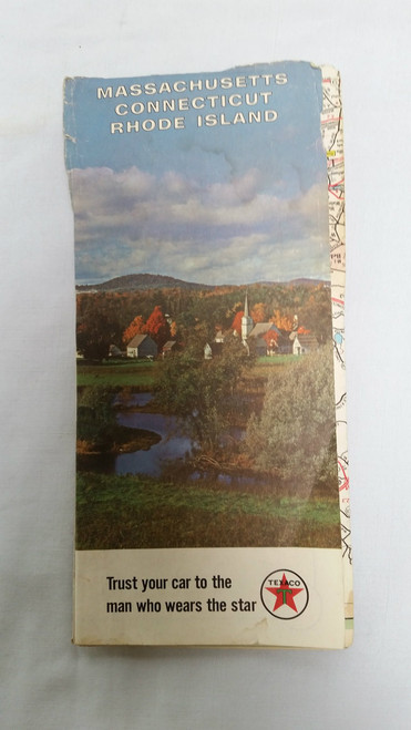Vintage Texaco Massachusetts, Connecticut,Rhode Island Map