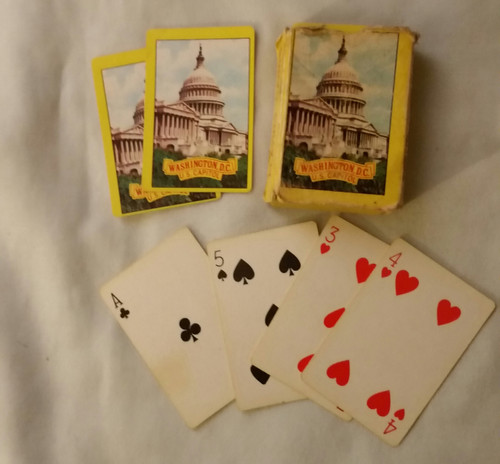 Vintage Washington DC Capitol Junior Playing Cards