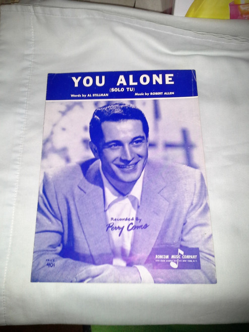 Vintage YOU ALONE Sheet Music Perry Como (1953)
