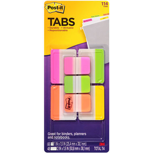 Post-it Tabs Variety Pack - 114 ct. (70-0051-8758-1 )