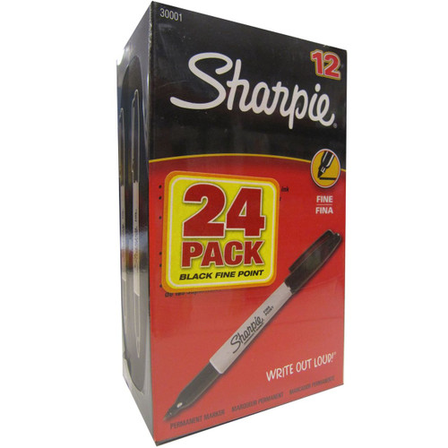 Sharpie - Permanent Marker, Fine, Black - 24 Count ( 1756292)