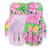 Floral Canvas Gloves with Dot Palm
