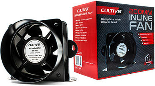 "Cultiv8 8"" (200mm) In-line Fan"
