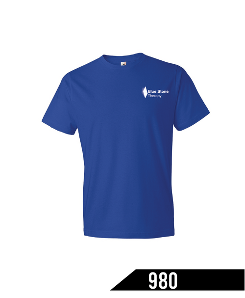This classic lightweight t-shirt is a tried-and-true staple. Made with soft, 4.5 oz preshrunk 100% combed ringspun cotton & polyester blends.  Tubular constructed shirt that is true-to-size and only semi-fitted, this is the go-to choice for shirts. Featuring a tear away label, double-needle stitched sleeve and bottom hem, and taped shoulder-to-shoulder, this is a basic, not boring, tee.