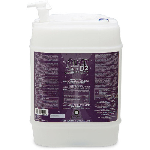 This isopropyl/quat based formula is impossible to misuse. Alpet D2 is ready to use, no-rinse, highly evaporative, non-corrosive and fast acting.  Ideal for water sensitive equipment, Alpet D2 sanitizes in 60 seconds and disinfects in 5 minutes.  This one-of-a-kind product is powerful enough to kill Norovirus yet safe enough to use on food-contact surfaces without a rinse.