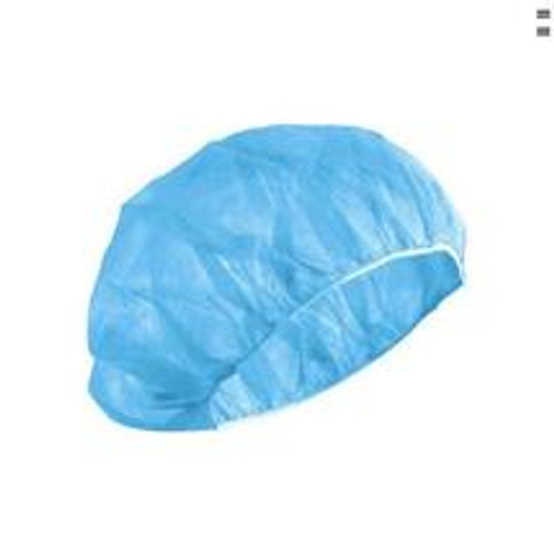 Spunbonded Bouffant Cap For Fuller Hairstyles 24 Inch X-Large Blue Made of lightweight, but durable, spunbonded fabric that permits increased airflow, keeping the wearer cool and comfortable during long surgical procedures. Single Use Disposable Not Made with Natural Rubber Latex. Packaged: 100 Per Box, 5 Boxes Per Case  500 - $0.45 each  1000 - $0.40 each  5000 - $0.33 each