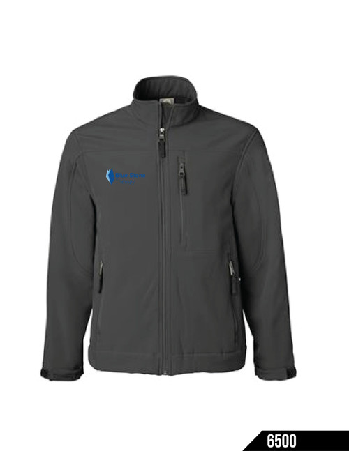 10.3 oz., 95/5 polyester/spandex shell Soft brushed polyester lining Wind- and water-resistant Left chest pocket Two zippered slash pockets Adjustable Velcro cuffs Please note, this garment now has a vertical seam on the back, top neck (not pictured in the photos).