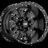 Moto Metal MO970 17x8 42MM 5x160 GLOSS BLACK W/ MILLED LIP MO970780163A42