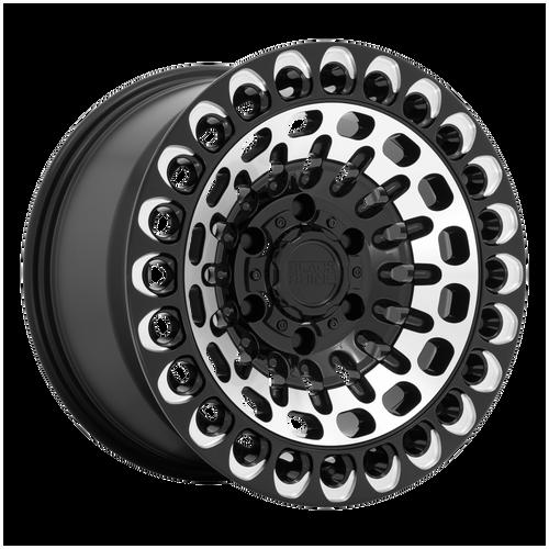 Black Rhino LABYRINTH 17x9.5 12MM 6x135 GLOSS BLACK W/ MACHINED FACE & MILLING 1795LBY126135B87