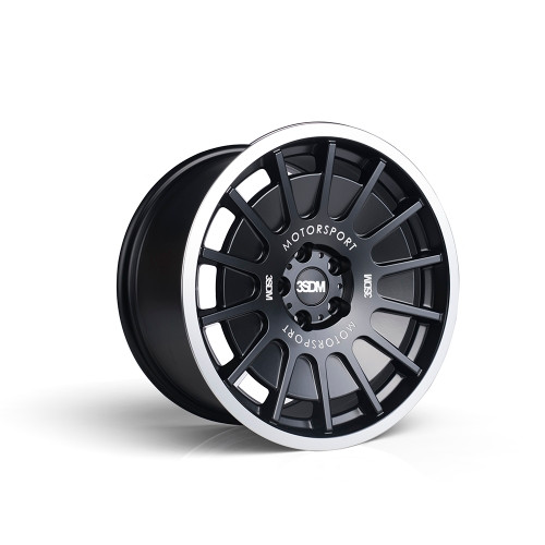 3sdm 0.66 18x8.5 42MM 5x112 Matte Black / mirror lip 0.66:S18855112BP06642