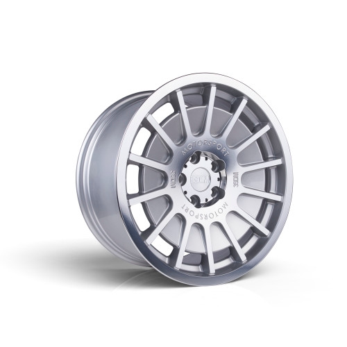 3sdm 0.66 18x9.5 35MM 5x100 Silver / mirror polished face 0.66:S18955100SH06635