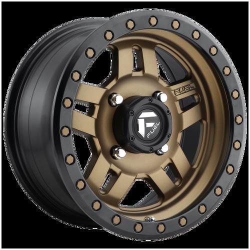 Fuel Utv ANZA 4+3 15x7 13MM 4x156 MATTE BRONZE BLACK BEAD RING D5831570A544