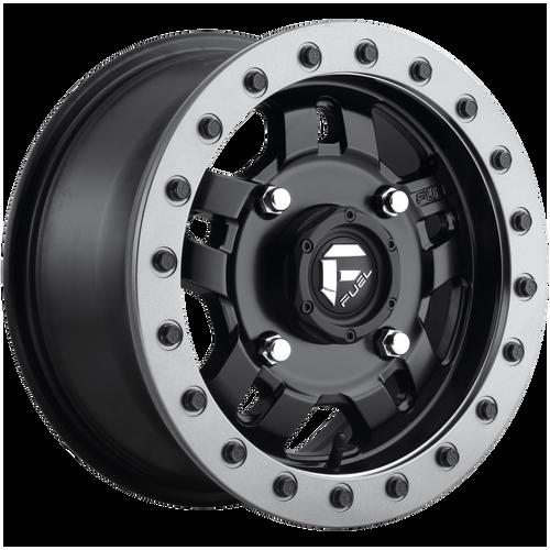 Fuel Utv ANZA BL - OFF ROAD ONLY 14x7 13MM 4x137 MATTE BLACK D9171470A643