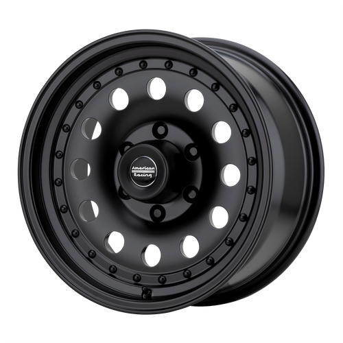 American Racing AR62 OUTLAW II 14x7 00MM 4x108 SATIN BLACK AR624734B