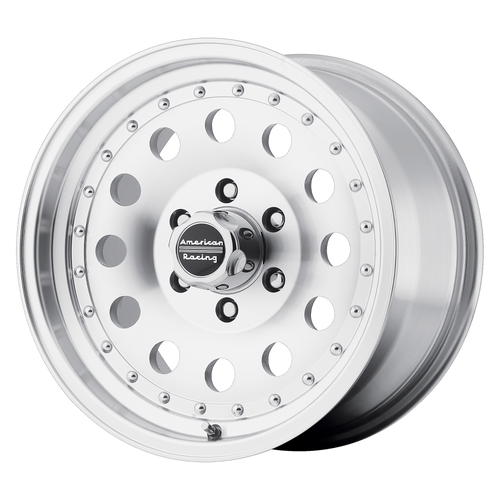 American Racing AR62 OUTLAW II 14x7 00MM 4x114.3 MACHINED W/ CLEAR COAT AR624748