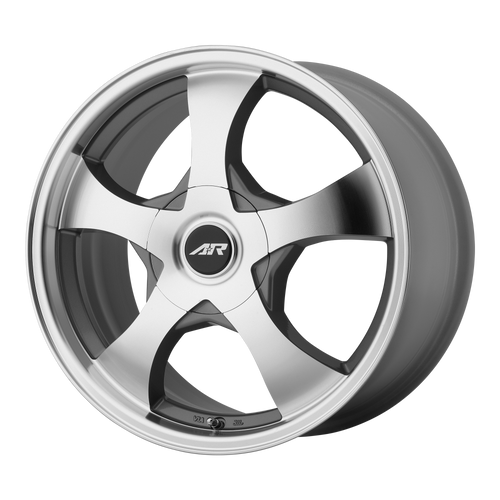 American Racing AR895 14x6 35MM 5x108/5x114.3 DARK SILVER W/ MACHINED FACE AR89546001435