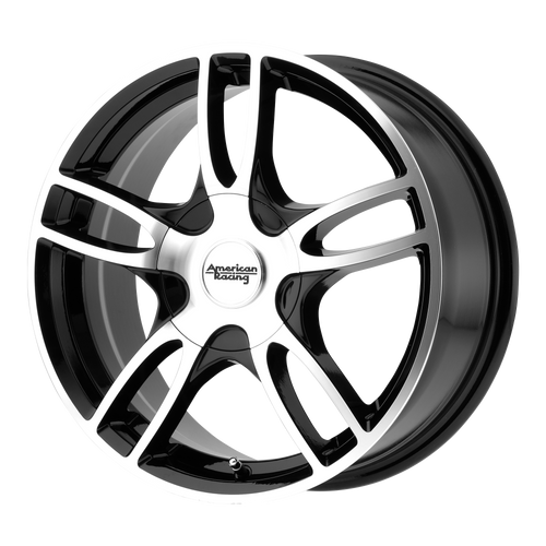 American Racing AR919 ESTRELLA 2 14x6 35MM 4x100/4x114.3 GLOSS BLACK MACHINED AR91946098335