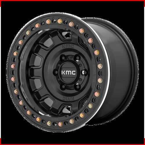 Kmc KM236 TANK BEADLOCK 17x9 -15MM 6x139.7 SATIN BLACK KM23679060715N
