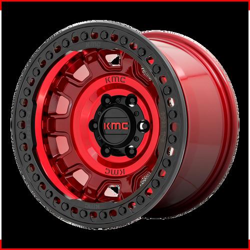 Kmc KM236 TANK BEADLOCK 17x9 -15MM 6x139.7 CANDY RED KM23679060915N