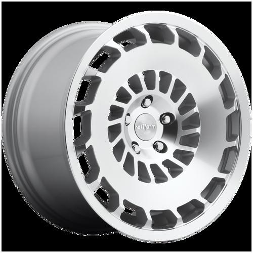 Rotiform CCV 18x8.5 45MM 5x112 GLOSS SILVER MACHINED R135188543+45