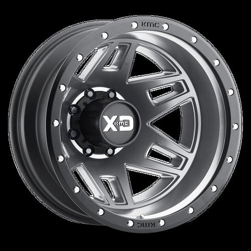 Xd XD130 MACHETE DUALLY 17x6.5 -140MM 8x165.1 MATTE GRAY W/ BLACK RING XD130765804140N