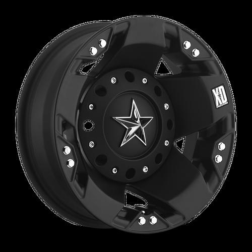 Xd XD775 ROCKSTAR 17x6 -134MM 8x200 DUALLY MATTE BLACK REAR XD77576082794N