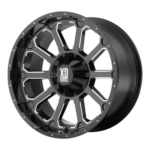 Xd XD806 BOMB 18x9 30MM 5x110/5x115 GLOSS BLACK W/ MILLED ACCENTS XD80689021330