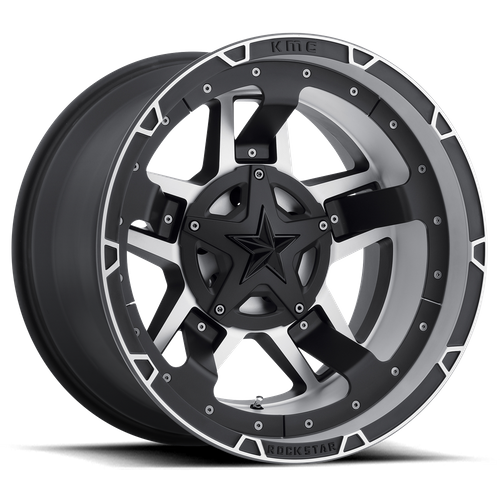 Xd XD827 ROCKSTAR III 17x8 35MM 5x110/5x114.3 MATTE BLACK MACHINED XD82778019535