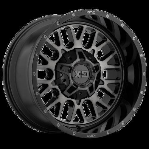 Xd XD842 SNARE 20x12 -44MM 5x127/5x139.7 GLOSS BLACK W/ GRAY TINT XD84221235344N