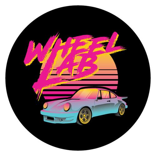 Wheel Lab - 80's Vibe Porsche Pin x Sticker Combo
