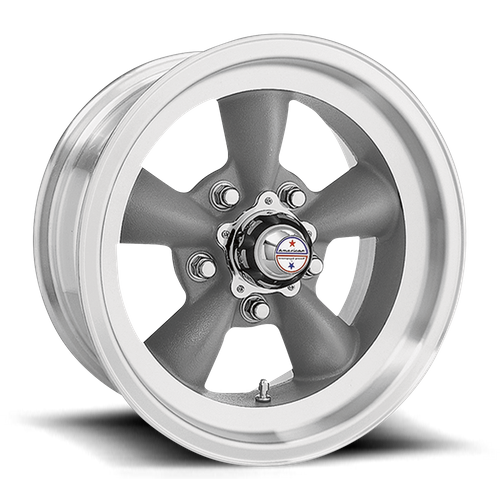 American Racing VN105 TORQ THRUST D 14x6 -2MM 5x114.3 TORQ THRUST GRAY W/ MACH LIP VN1054665