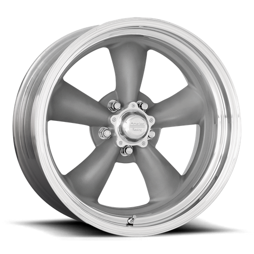 American Racing VN215 CLASSIC TORQ THRUST II 1 PC 14x6 -2MM 5x114.3 MAG GRAY W/ MACHINED LIP VN2154665
