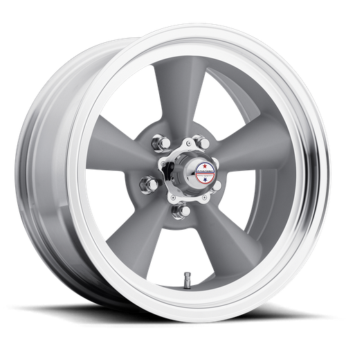 American Racing VN309 TT O 15x5 -6MM 5x120 VINTAGE SILVER W/ MACHINED LIP VN3095561