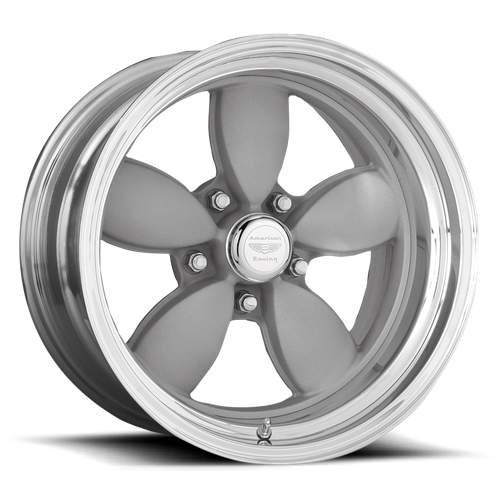 American Racing VN402 CLASSIC 200S 15x10 -25MM 5x114.3 TWO-PIECE MAG GRAY CENTER POLISHED BARREL VN402516545