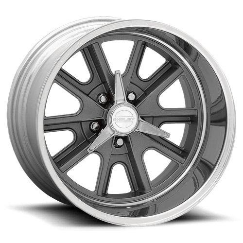 American Racing VN427 SHELBY COBRA 15x8 -25MM 5x120 TWO-PIECE MAG GRAY CENTER POLISHED BARREL VN427586135