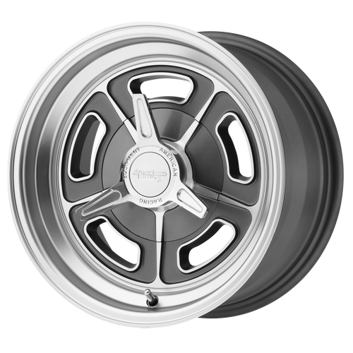 American Racing VN502 15x5 -12MM 5x114.3 MAG GRAY MACHINED VN50255012512N