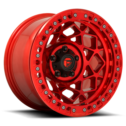 Fuel Offroad UNIT BEADLOCK 17x9 -15MM 5x127 CANDY RED D12117907545