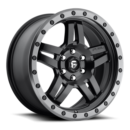 Fuel Offroad ANZA 18x8 27MM 5x110 MATTE BLACK GUN METAL RING D55718805155