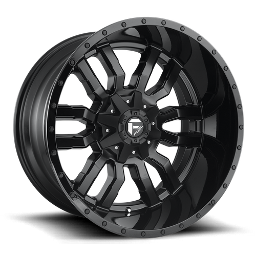 Fuel Offroad SLEDGE 18x8 35MM 5x110/5x127 MATTE BLACK GLOSS BLACK LIP D5961880C159