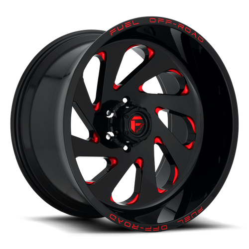 Fuel Offroad VORTEX 20x10 -19MM 6x139.7 GLOSS BLACK RED TINTED CLEAR D63820008446