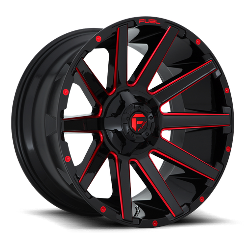 Fuel Offroad CONTRA 22x10 -19MM 6x135/6x139.7 GLOSS BLACK RED TINTED CLEAR D64322009846