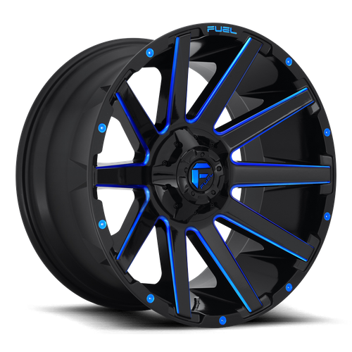 Fuel Offroad CONTRA 22x10 -19MM 6x135/6x139.7 GLOSS BLACK BLUE TINTED CLEAR D64422009846