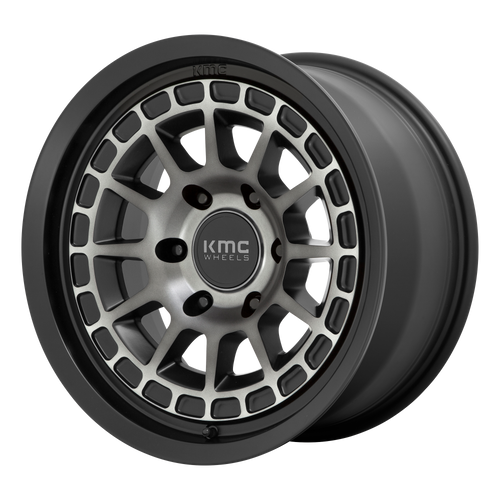 Kmc KM719 CANYON 17x8 20MM 6x139.7 SATIN BLACK W/ GRAY TINT KM71978068420