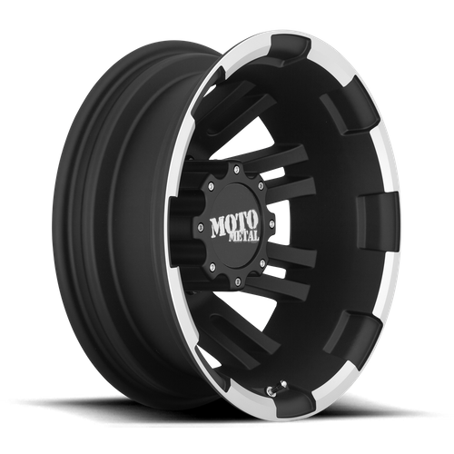 Moto Metal MO963 16x6 -134MM 8x170 MATTE BLACK MACHINED DUALLY - REAR MO96366087794N
